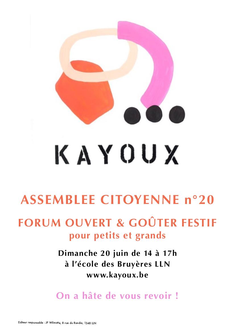 Affiche de l'assemblée #20 juin 2021